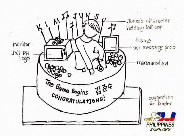 Cake sketch design